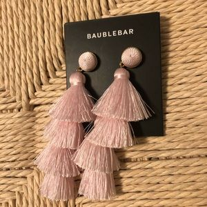 Baublebar Powder Pink Tassel Earrings - NWT